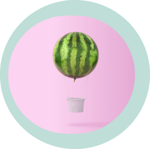 watermelon hot air balloon