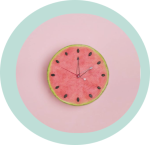 watermelon clock
